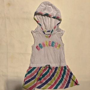 Converse Toddler Rainbow Logo Hooded Dress sz: 12m